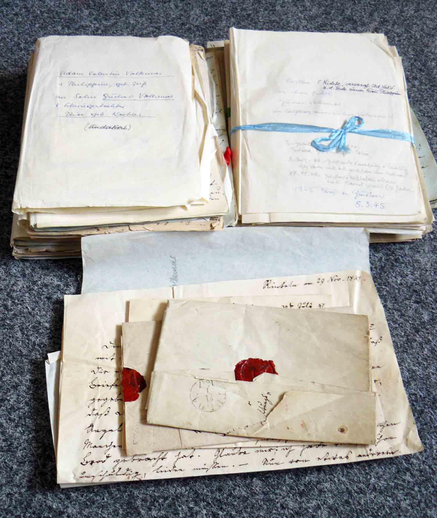 Briefe Adam Valentin Volckmar