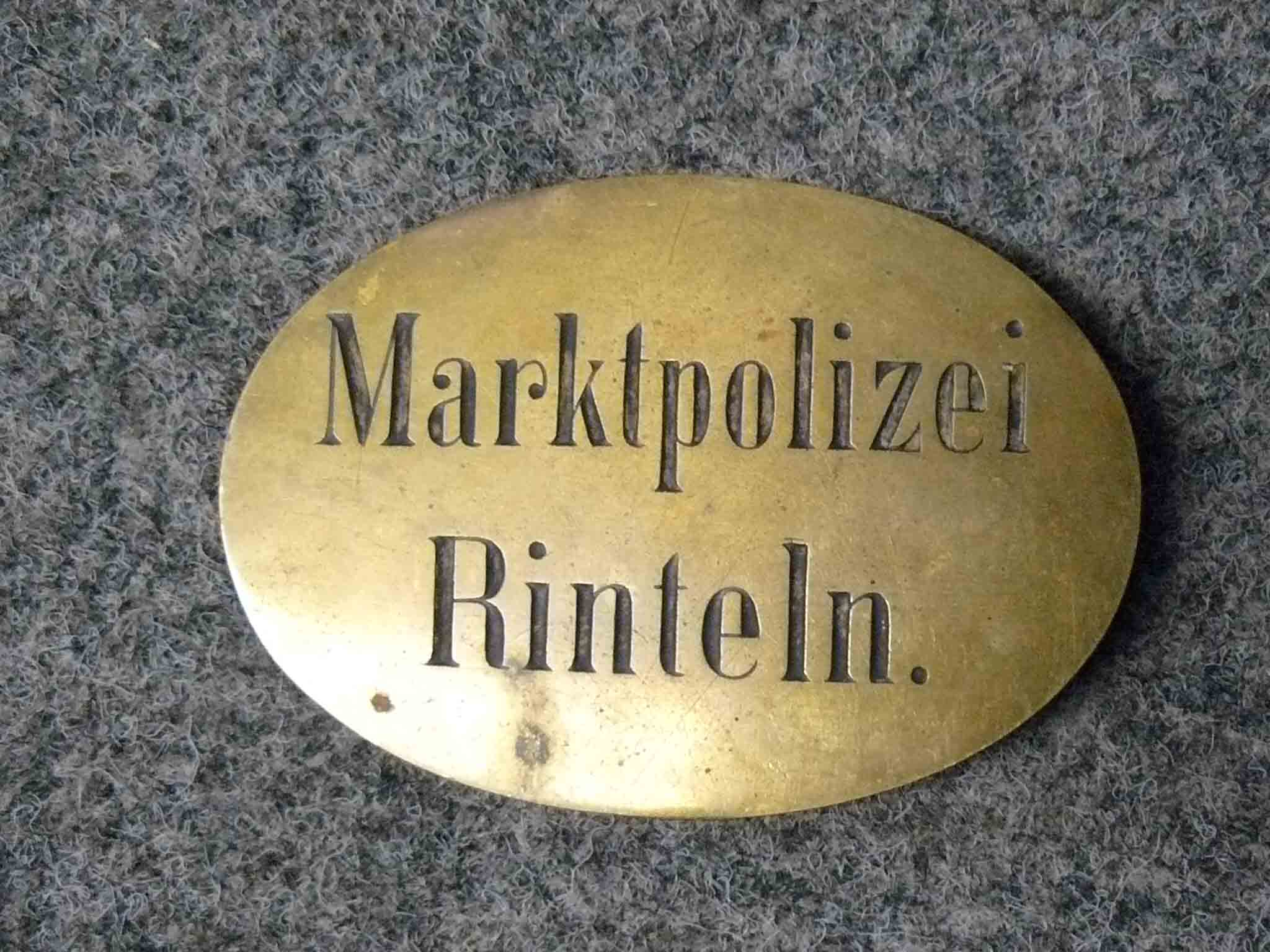 Messingschild Marktpolizei