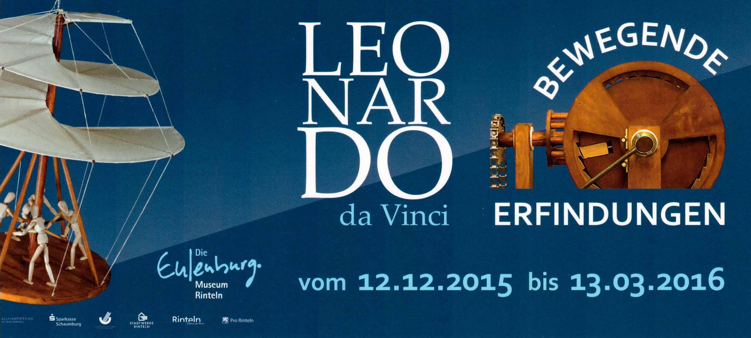 Ausstellungsbanner Leonardo