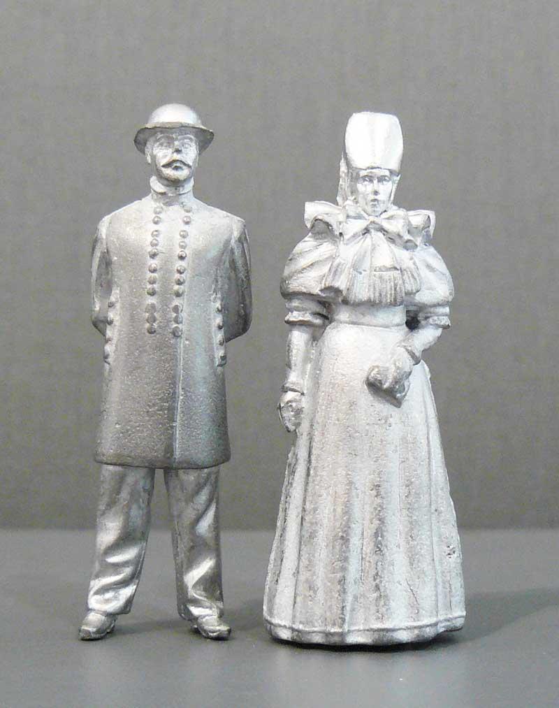 Zinnfiguren Lindhorster Brautpaar, 6 cm hoch
