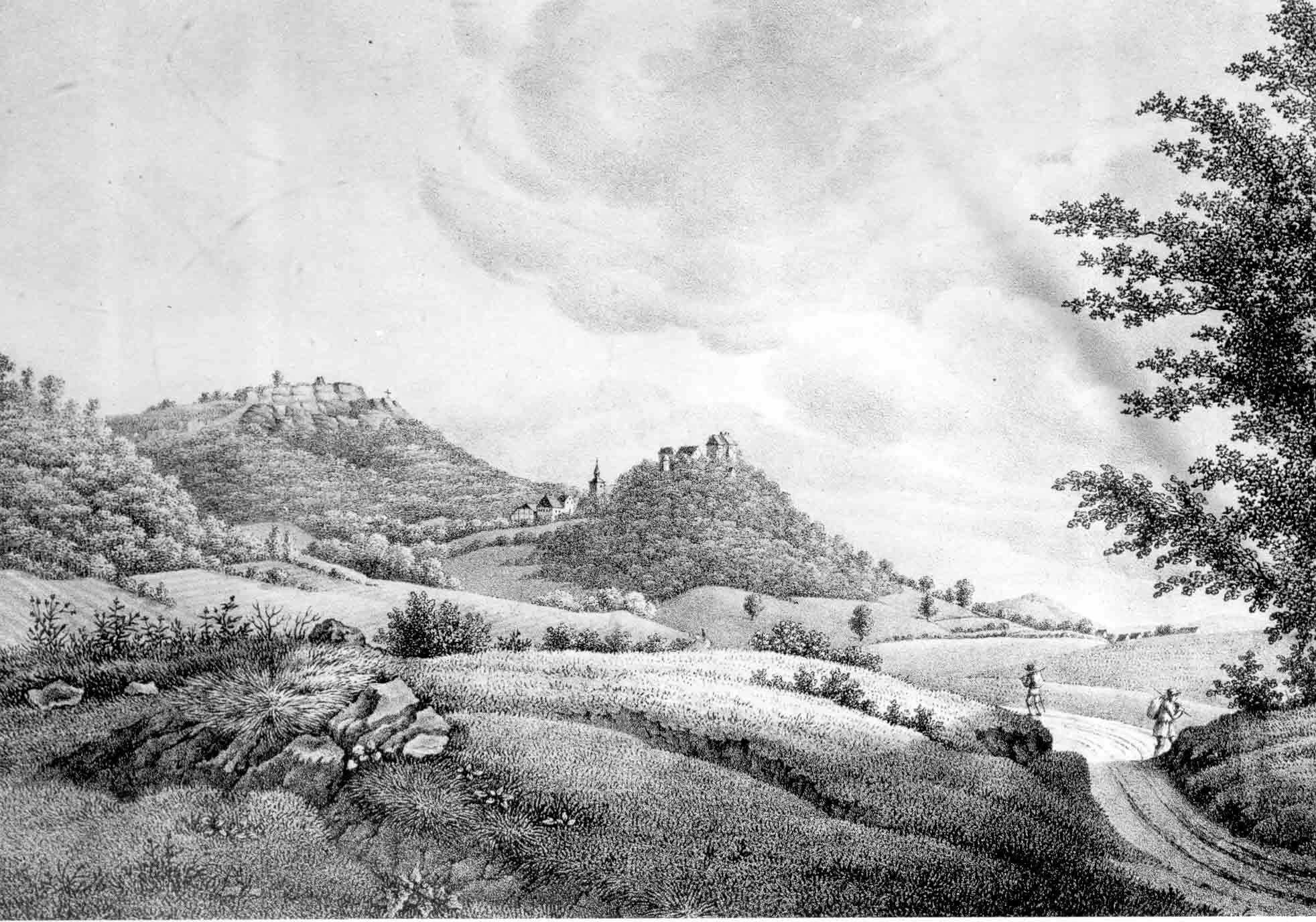 Schaumburg bei Rinteln um 1830