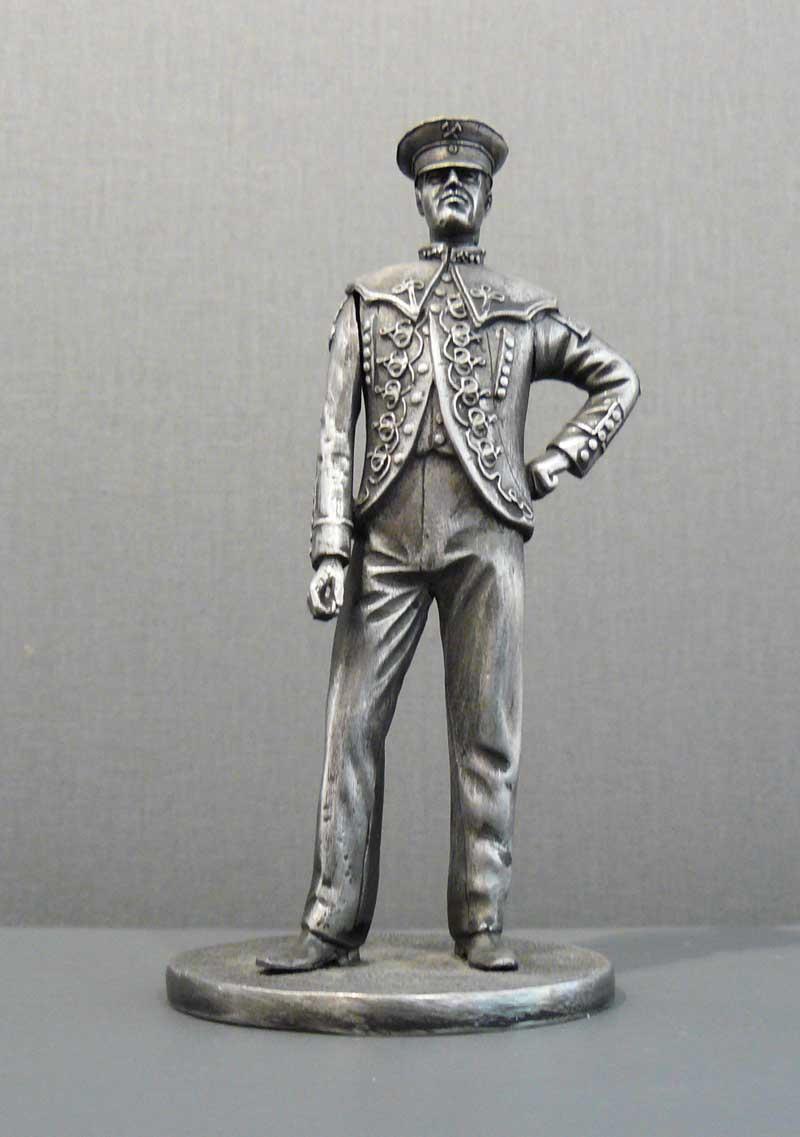 Zinnfigur Schaumburger Bergmann, 13 cm hoch